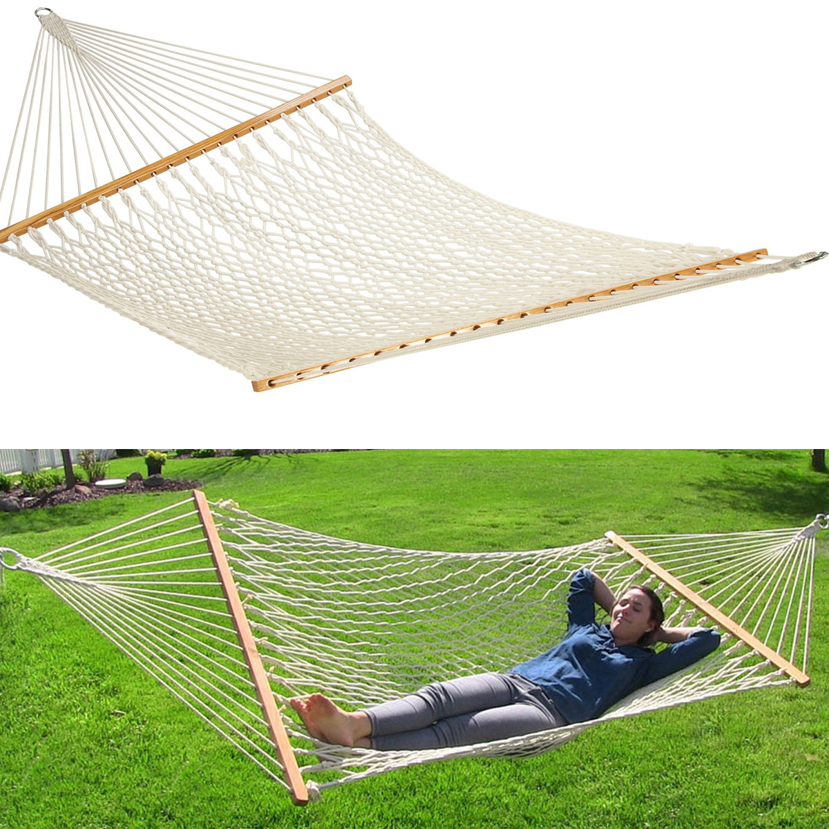Extra Wide 59 Quot Swing Outdoor New Cotton Rope Double