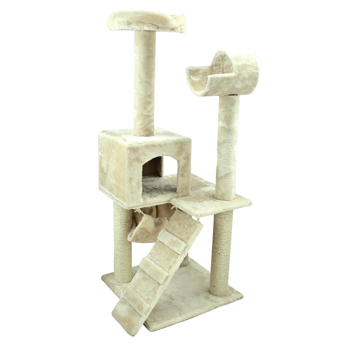 "Deluxe 50"" Cat Tower Tree W Condo Scratcher Furniture"