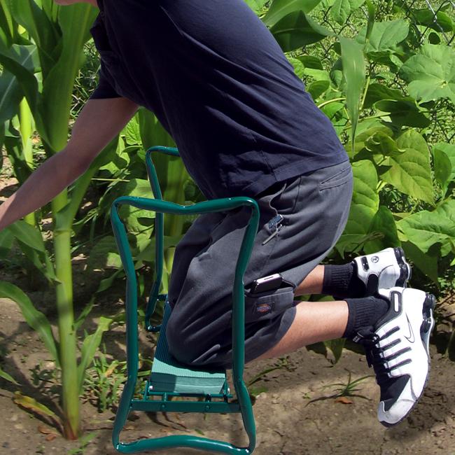 Gardening Chair Tool 220lb Portable Folding Garden