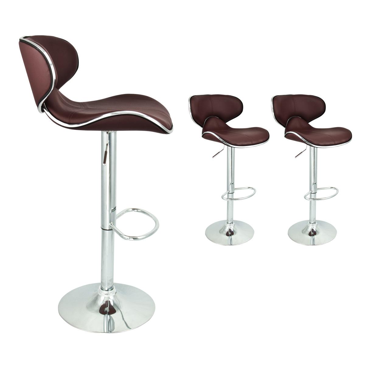 2 Brown Modern Adjustable Barstool Swivel Elegant PU  : 39076as from www.ebay.com size 1200 x 1200 jpeg 298kB