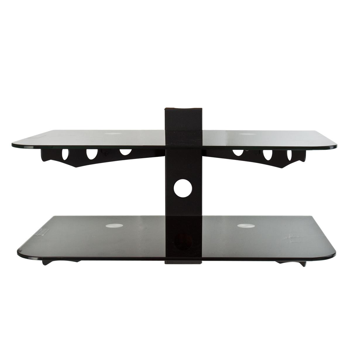 flat tv wall mount bracket 30 60 component shelf 2 tier av dvd stand ebay. Black Bedroom Furniture Sets. Home Design Ideas