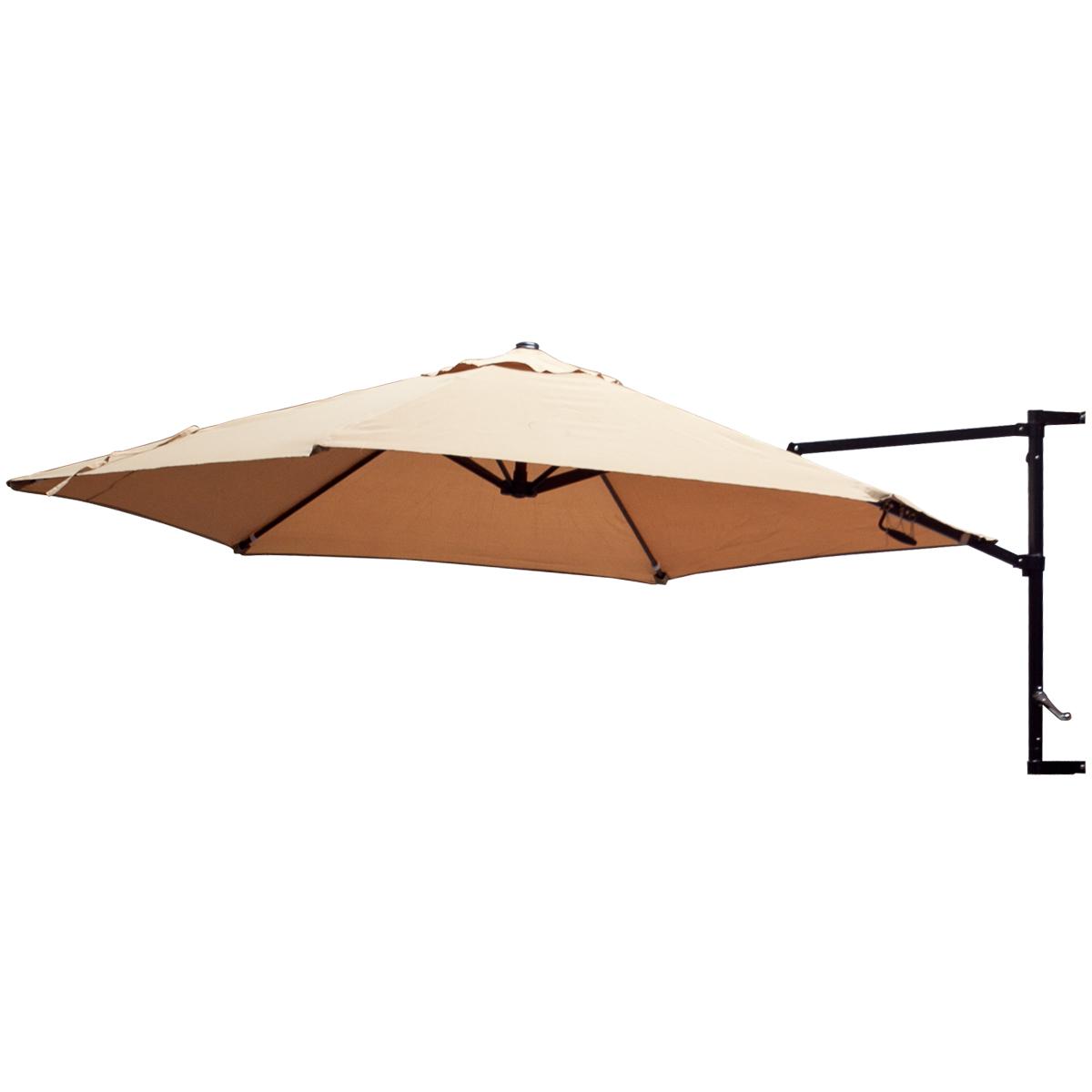 Offset Umbrella Patio Wall Mount Garden Outdoor Sun Canopy