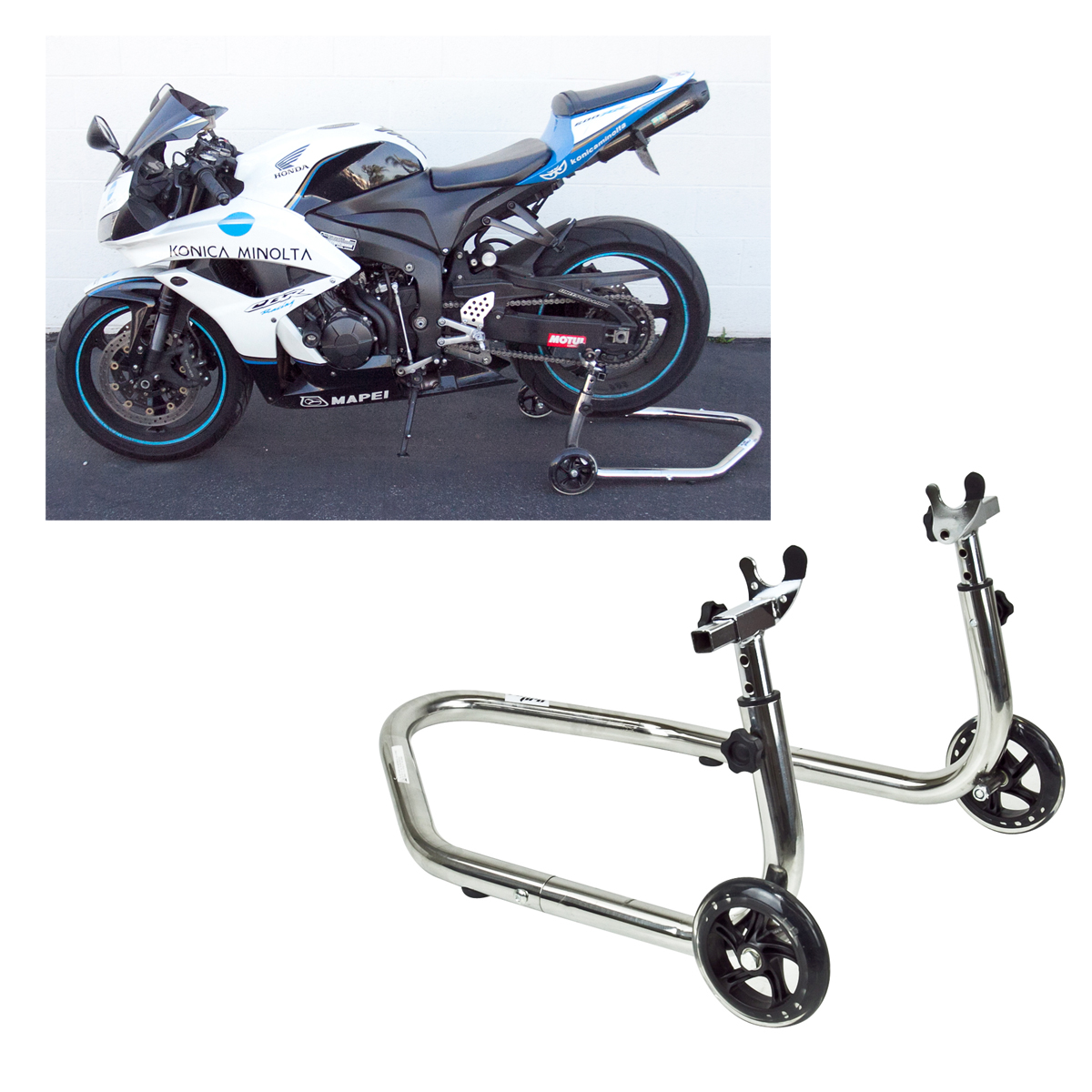 Motorcycle Wheel Stand Bike Swingarm Wheel Spool Lift Auto