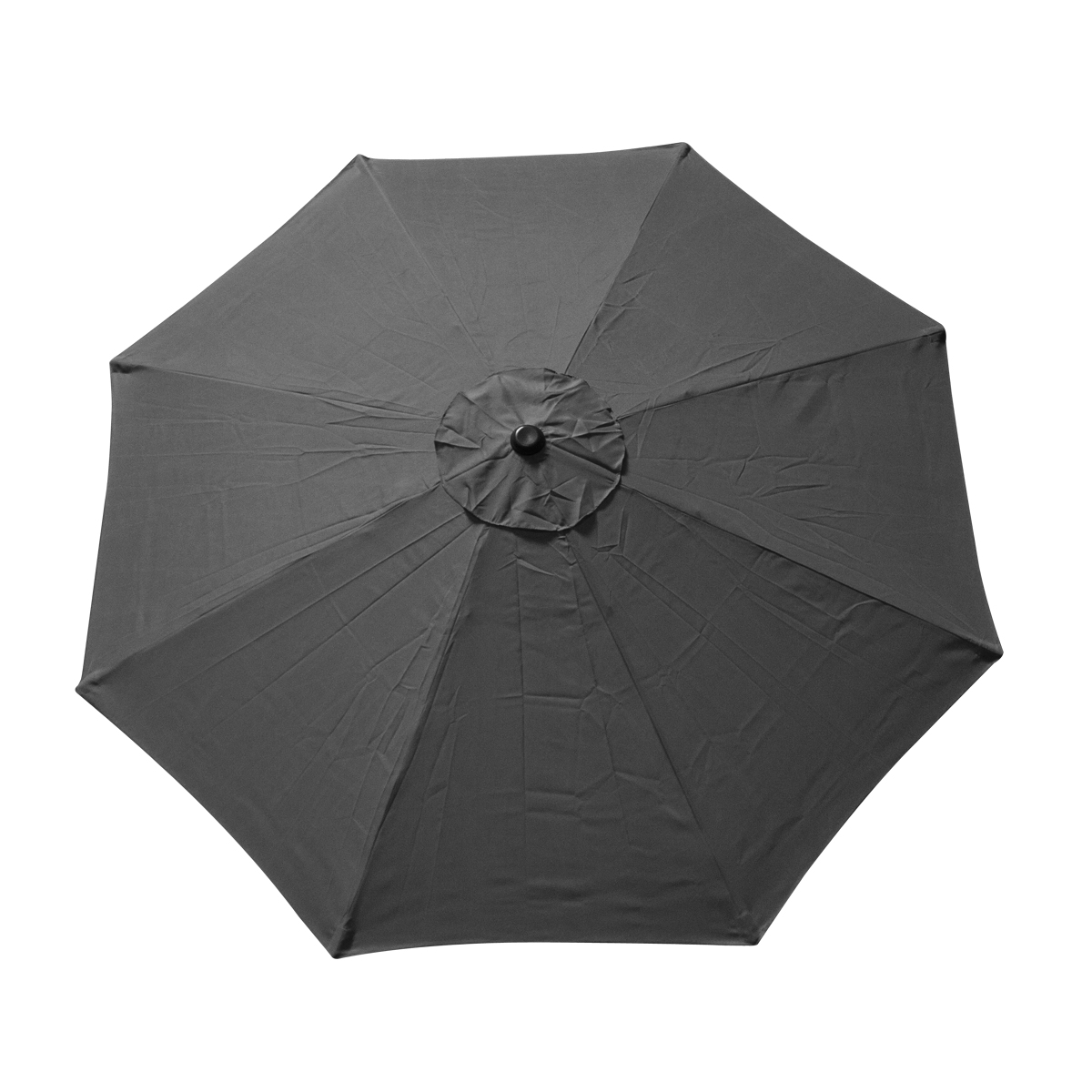 9 FT 8 Ribs Replacement Umbrella Cover Canopy Grey Top ...