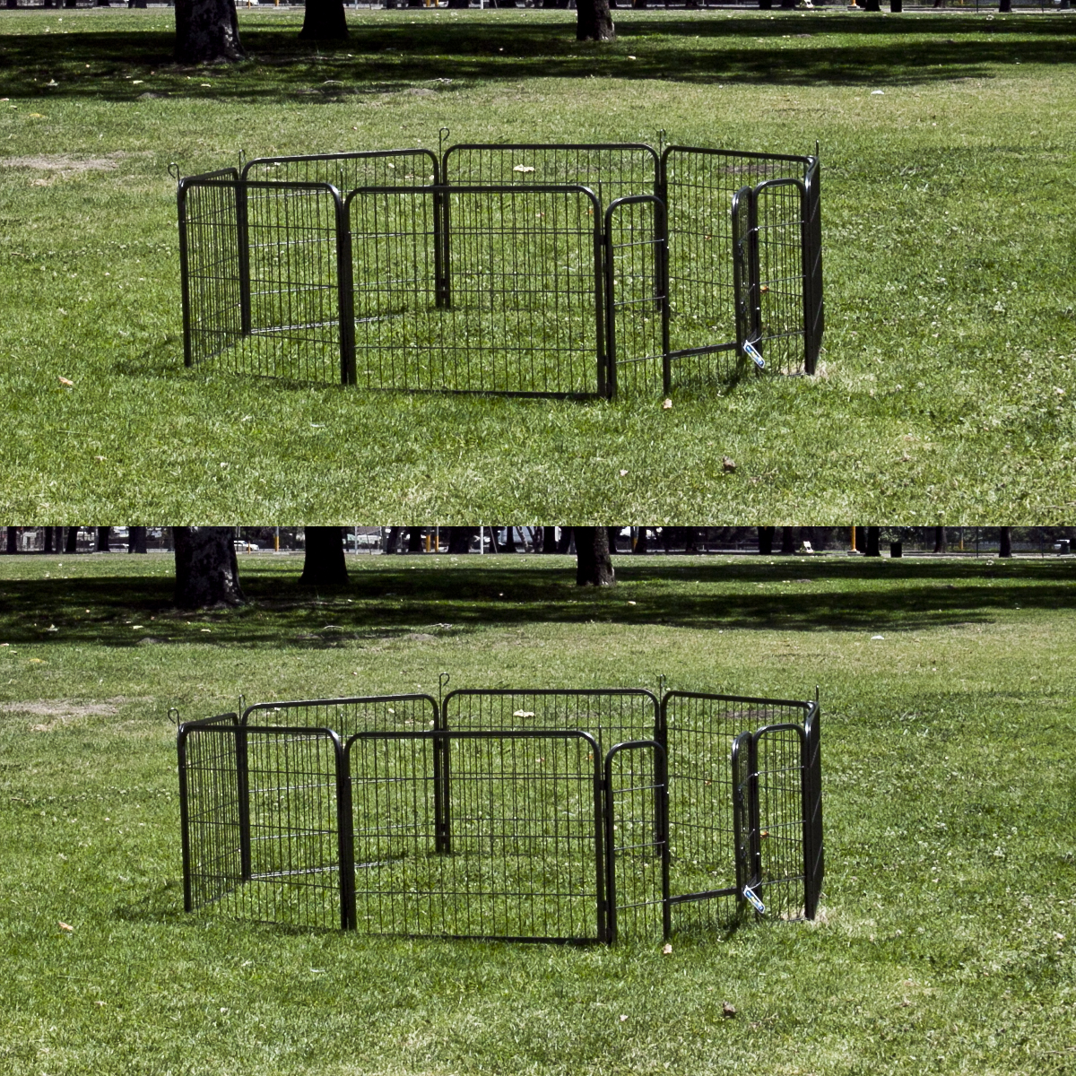 2 X 8 Panel Pet Dog Barrier Fence Exercise Metal Play Pen