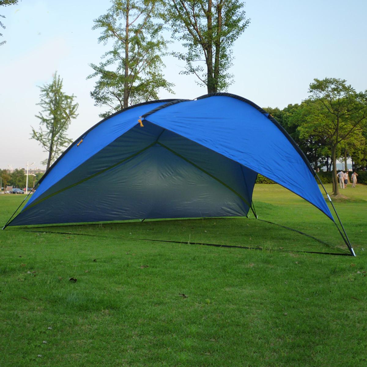 NEW 16'x16'x16' Pop Up Cabana Beach Blue Sand Tent Sun
