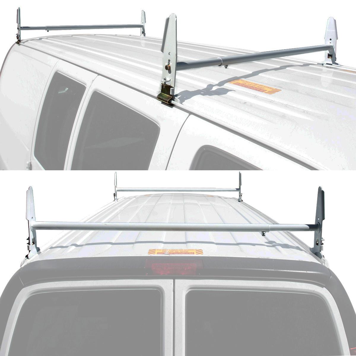 Van Ladder Rack Roof 500 Lb 2 Bars Contractor Chevy Dodge