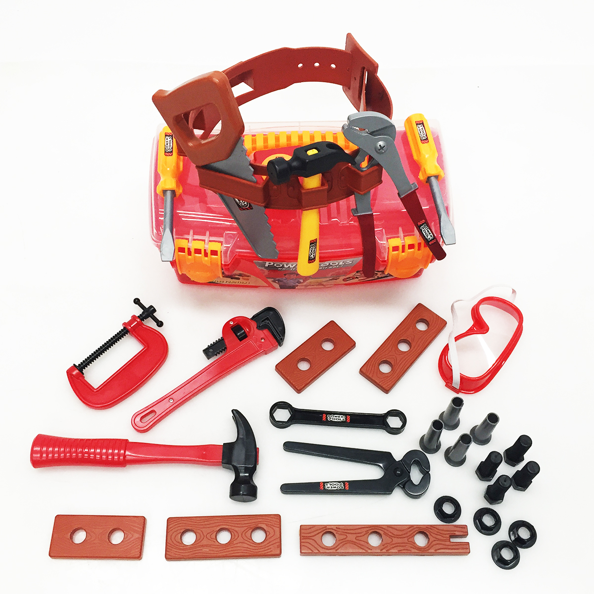 power tools for kids construction toys boys toddlers hammer toolbox ebay. Black Bedroom Furniture Sets. Home Design Ideas