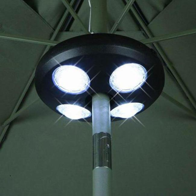 4 New Umbrella Pole Light Outdoor Patio Yard Lighting