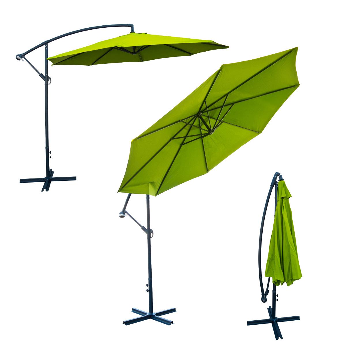 Deluxe 10 Feet Offset Umbrella Patio Off Set Tilt Crank