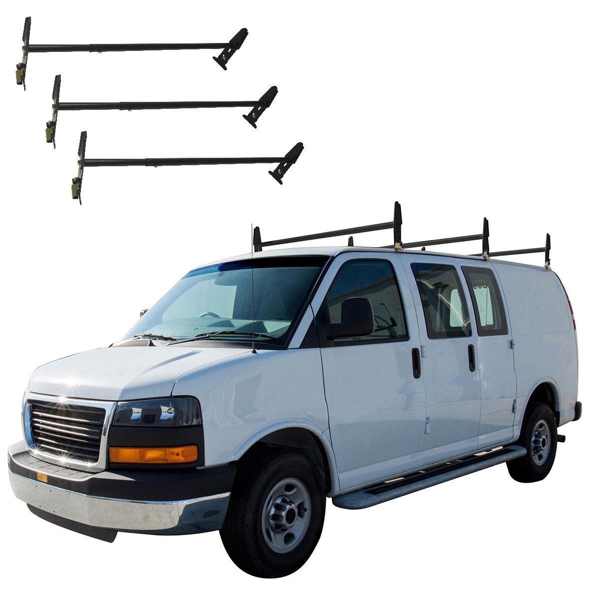 Universal Roof Ladder Rack Mount Gutter Cargo Van Cross