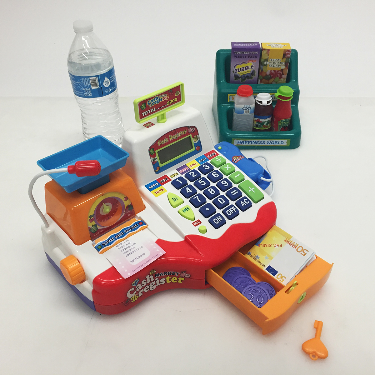 supermarket cash register toy how to open if stuck