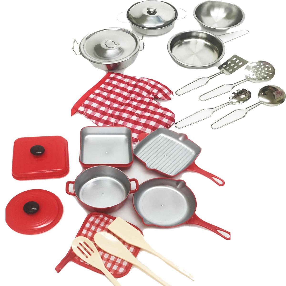 Kitchen Set Pots And Pans: 2 Playset Kids Pretend Kitchen Cooking Pots Pans Chef