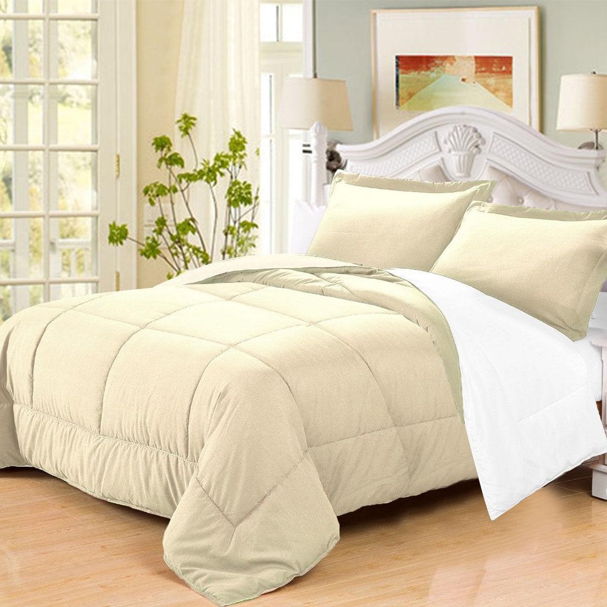 3 Pc Goose Down Alternative Reversible Comforter Sham