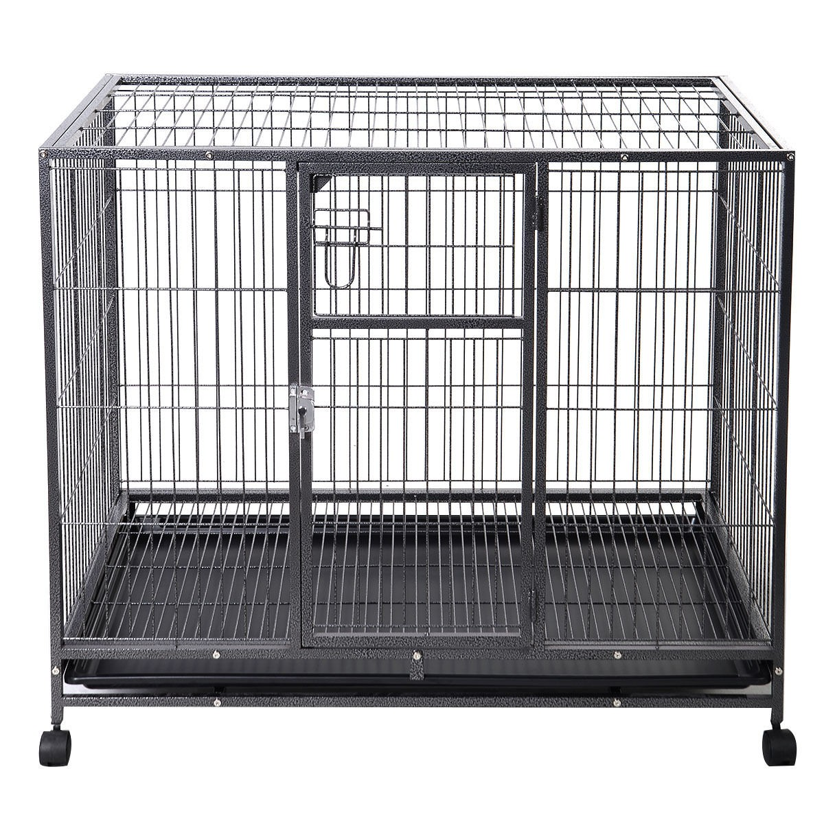 Portable Dog Kennels : Quot large dog kennel w wheels portable pet puppy carrier