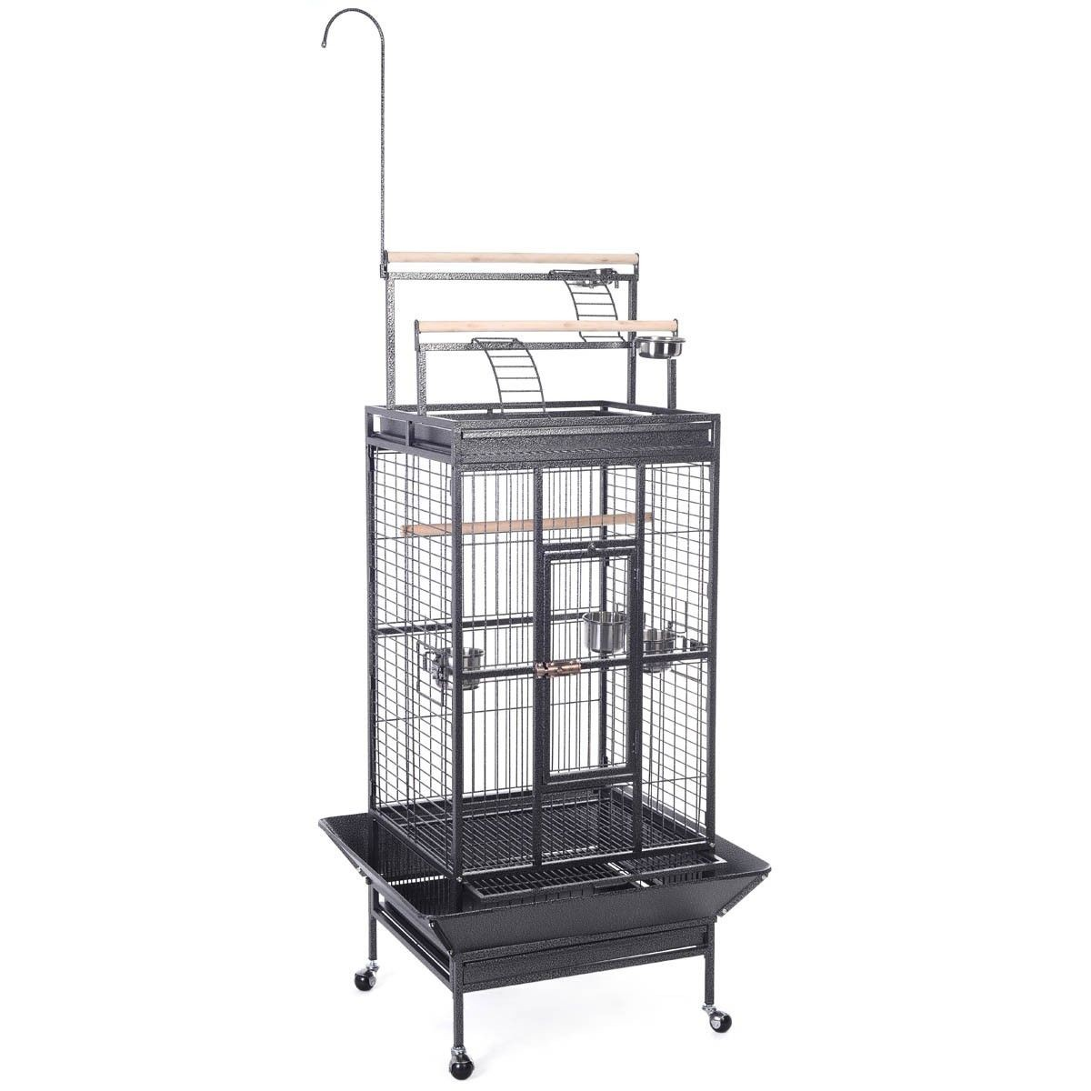 new parrot bird pet cage macaw african grey cage cockatiel house stand lock bl. Black Bedroom Furniture Sets. Home Design Ideas