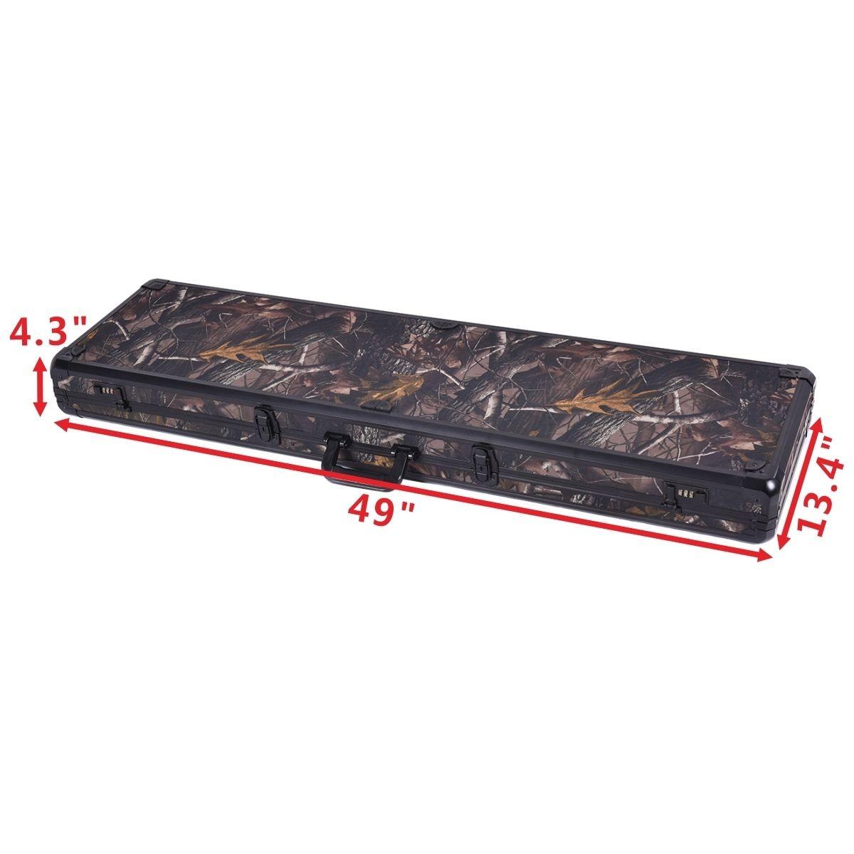49 Quot Long Aluminum Locking Rifle Gun Case Lock Shotgun