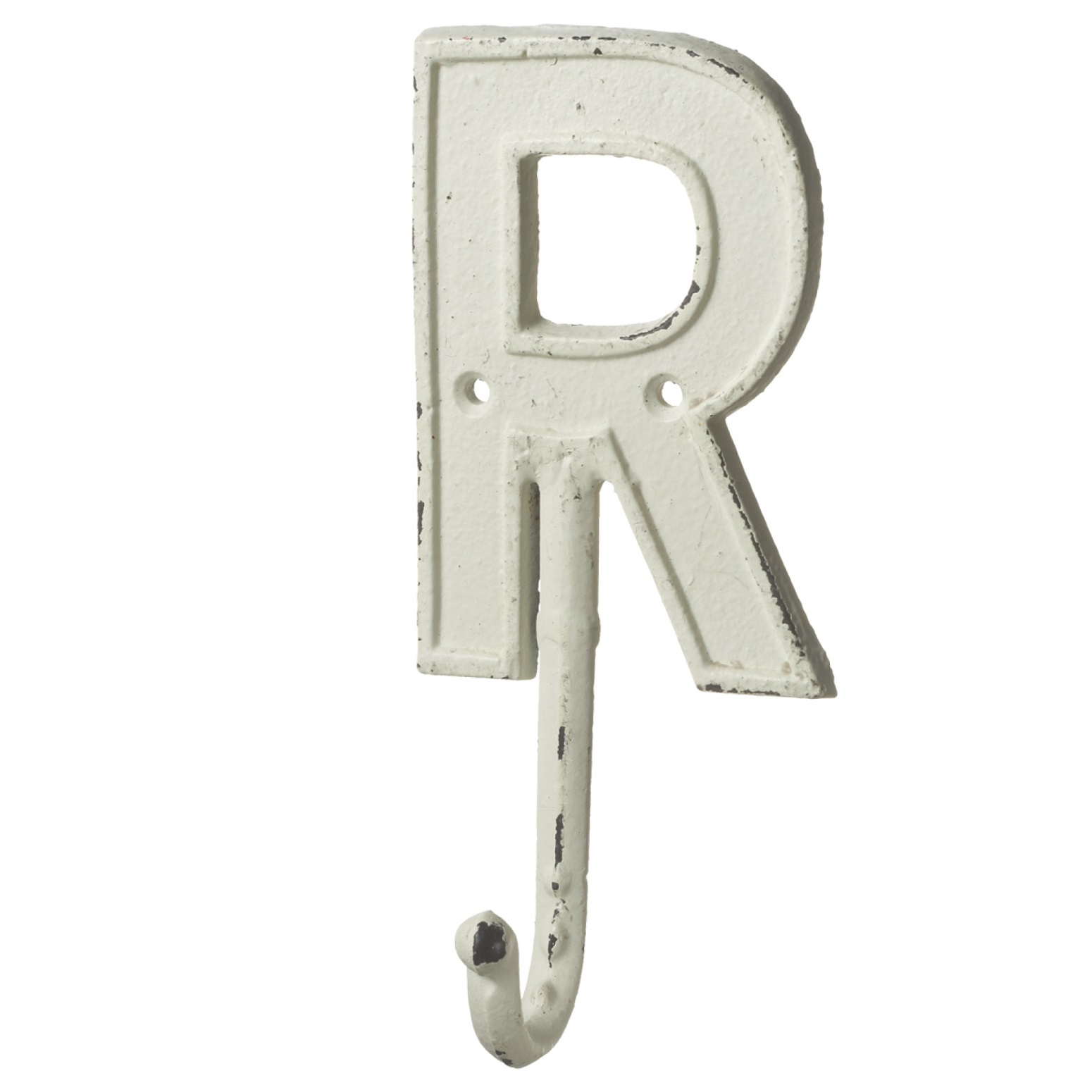 letter wall hooks monogram letter r single wall hook painted cast iron 7 5 23294