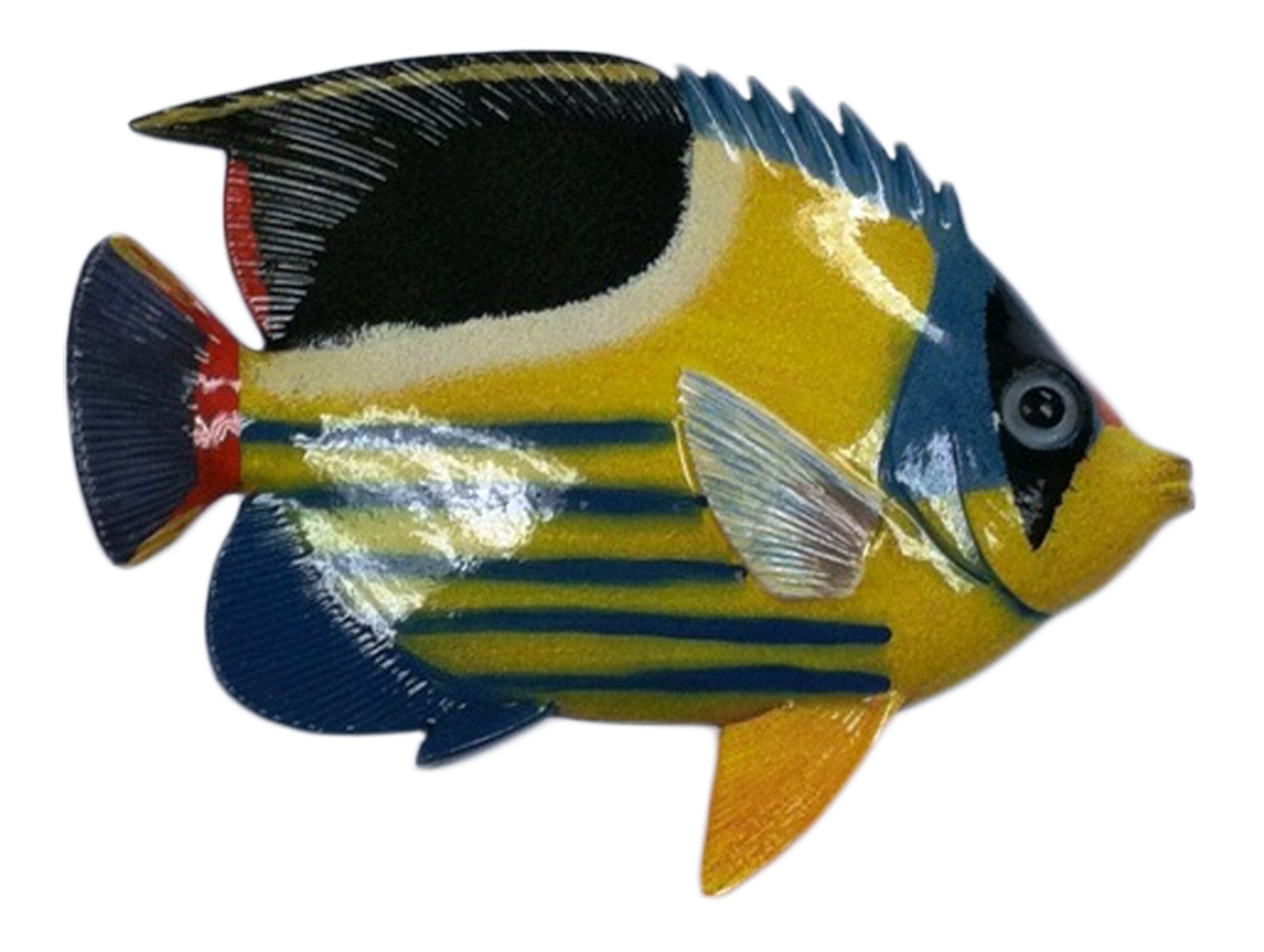 Big 12 Inch Striped Tropical Fish Bath Childrens Wall Decor 12TFW83 ...