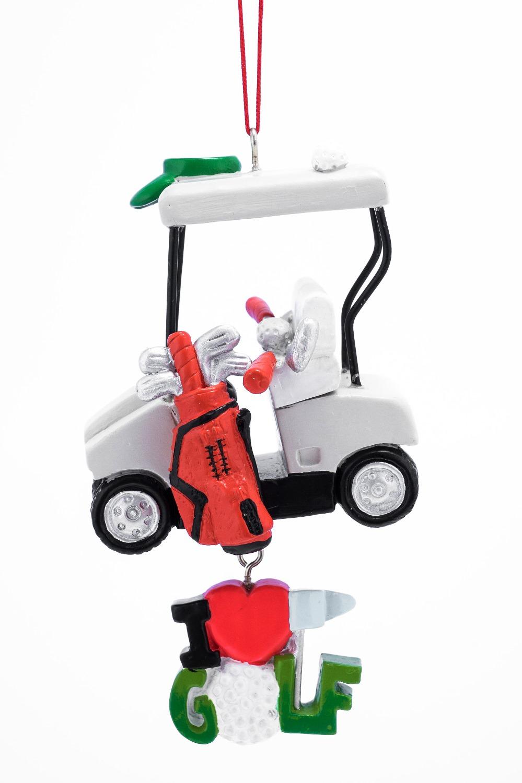 Golf Cart I Heart Golf Christmas Holiday Ornament 4.5 ...