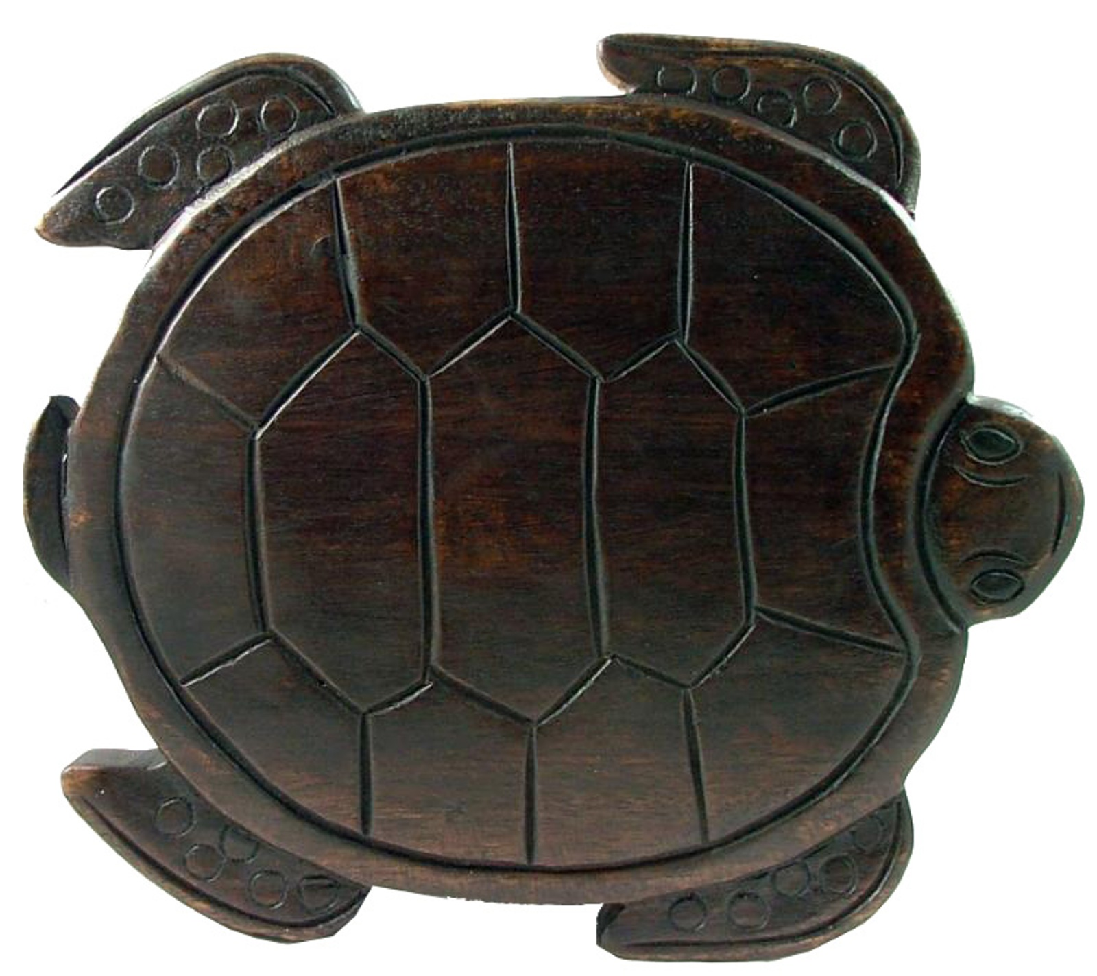 Tropical Sea Turtle Child Bath Carved Wooden Step Stool