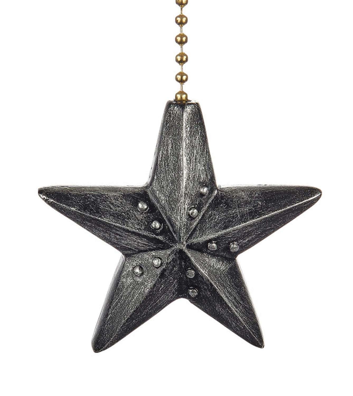Black Barn Star Decorative Ceiling Fan Light Dimensional
