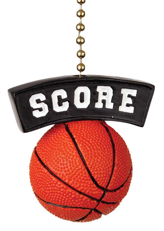 Basketball Score Decorative Ceiling Fan Light Dimensional Pull ...