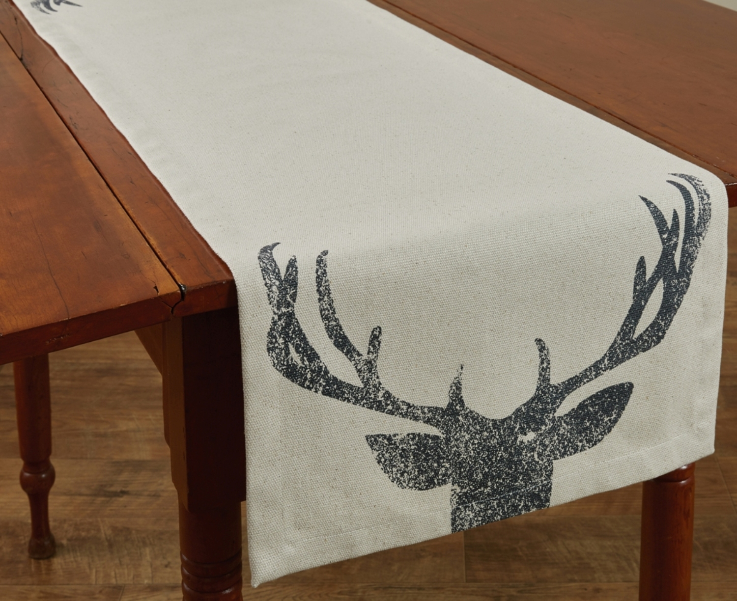 Deer Antlers Table Runner 54 Inches Cotton Kitchen Or Dining Room