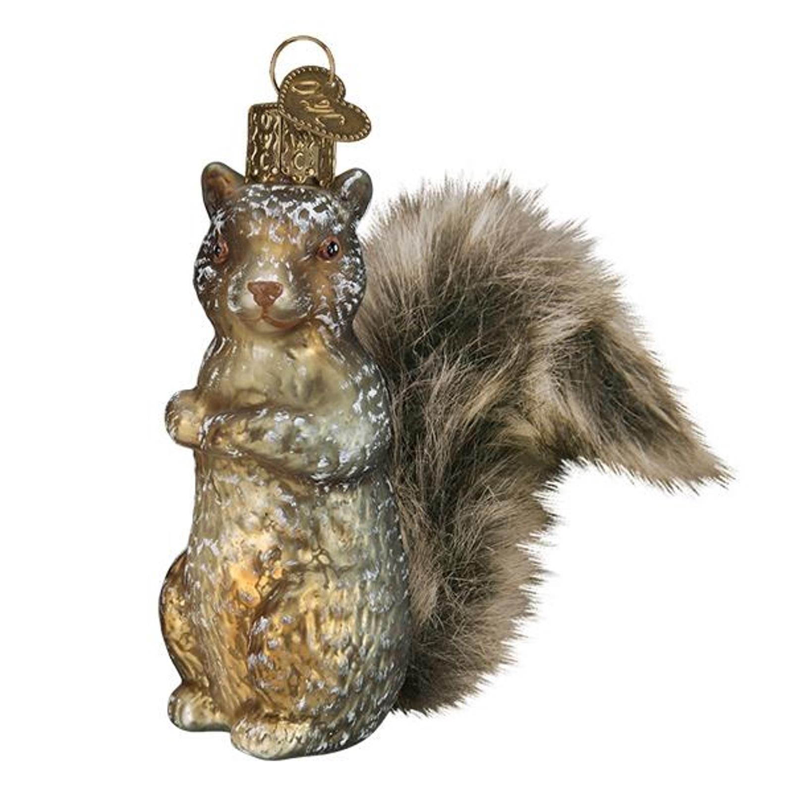 Christmas Squirrel.Details About Old World Christmas Vintage Inspired Squirrel Holiday Ornament Glass