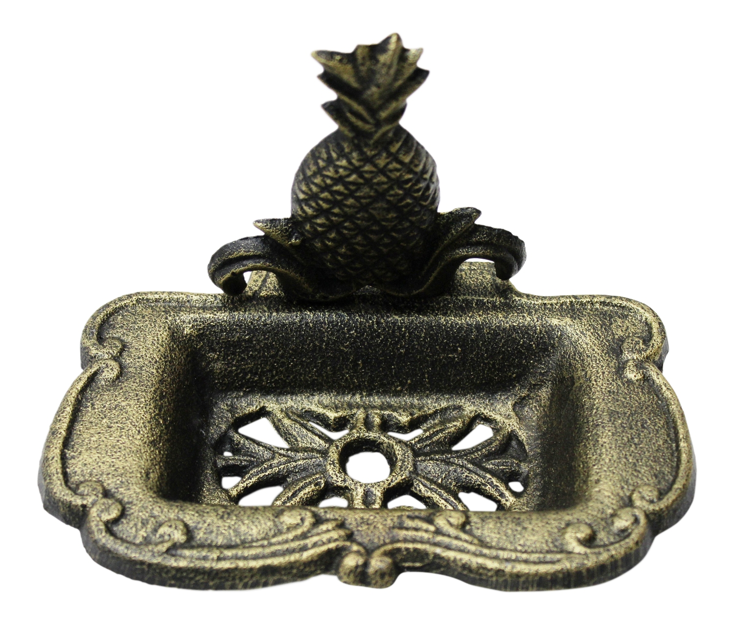 Bath SOAP DISH Holder Hand Painted Ceramic Pansy Pineapple Crocodile