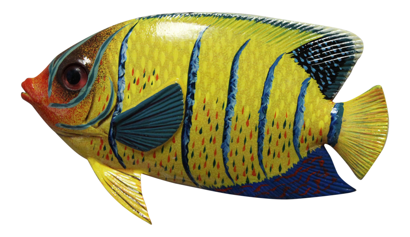 Tropical Cocoa Damselfish Fish Wall Tiki Deck Kid Wall Decor 6 inch ...