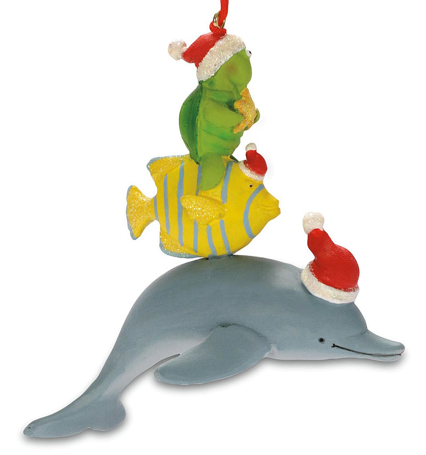 Sea Animal Santas Dolphin Tropical Fish Turtle Holiday ...