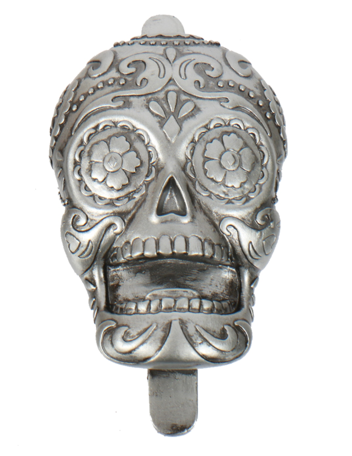 Silver Day of the Dead Sugar Skull Shaped Bottle Opener ...