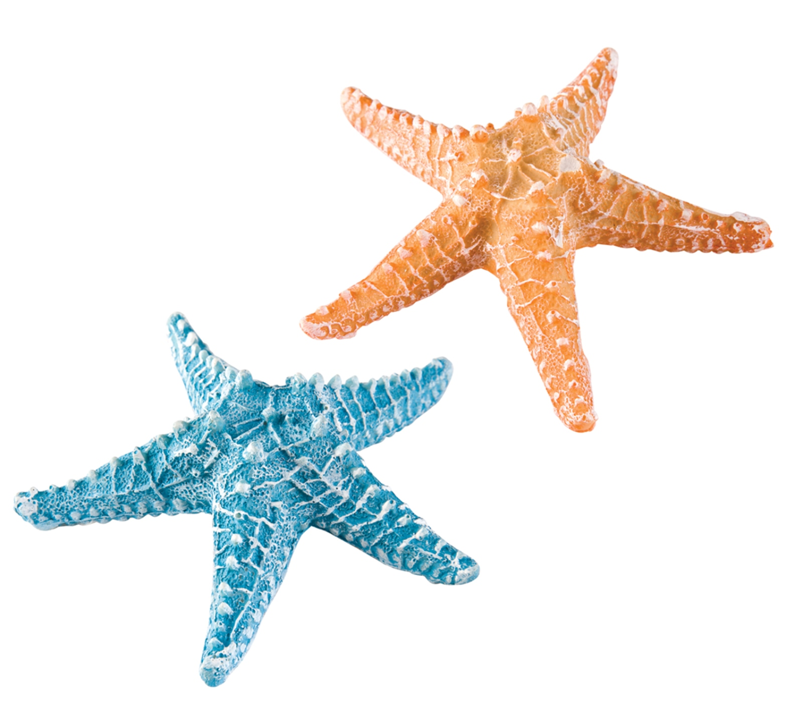 Direct Import Home Decor Seaside Starfish 6 Inch Tabletop Figurines Blue And Orange
