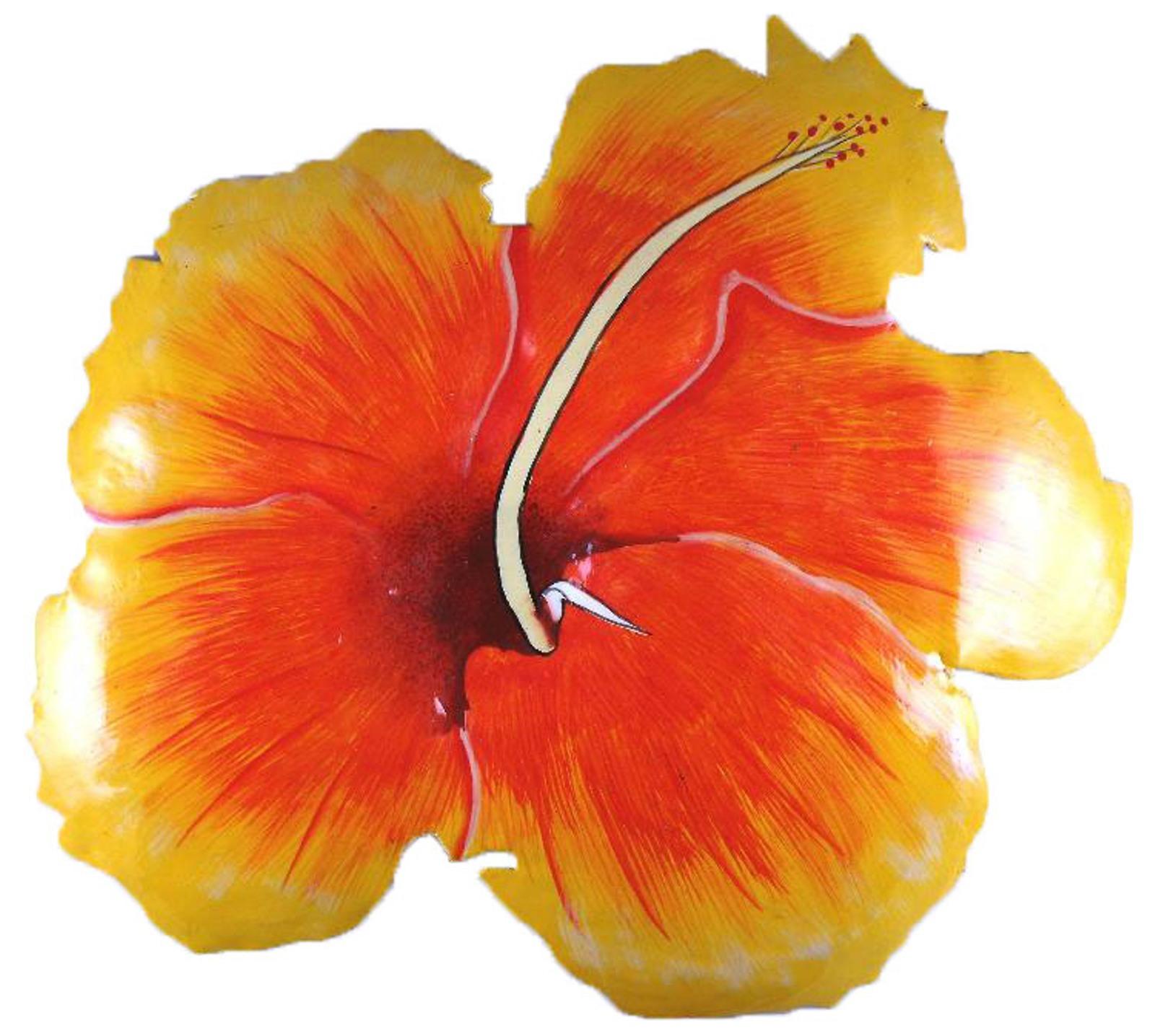 Tropical hibiscus floral haitian metal wall art yellow and orange ebay tropical hibiscus floral haitian metal wall art yellow and orange izmirmasajfo