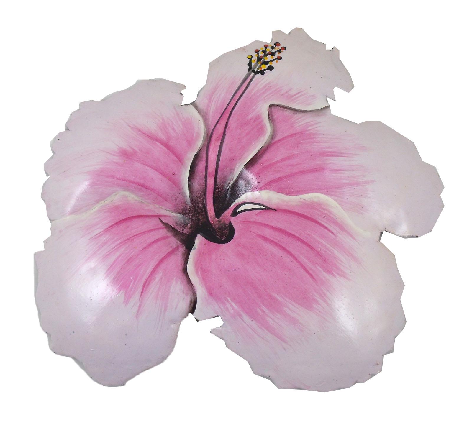 Pink tropical hibiscus flower haitian metal wall art ebay pink tropical hibiscus flower haitian metal wall art izmirmasajfo