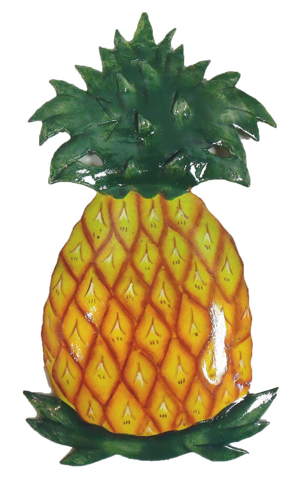 Tropical Welcome Colonial Pineapple Haitian Metal Art 11 Inch Wall ...