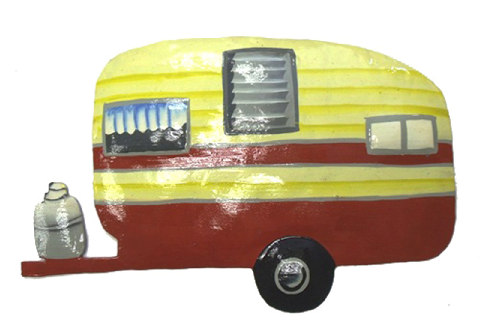 Vintage Look RV Camper Trailer Red Home on Wheels Haitian Metal Art ...