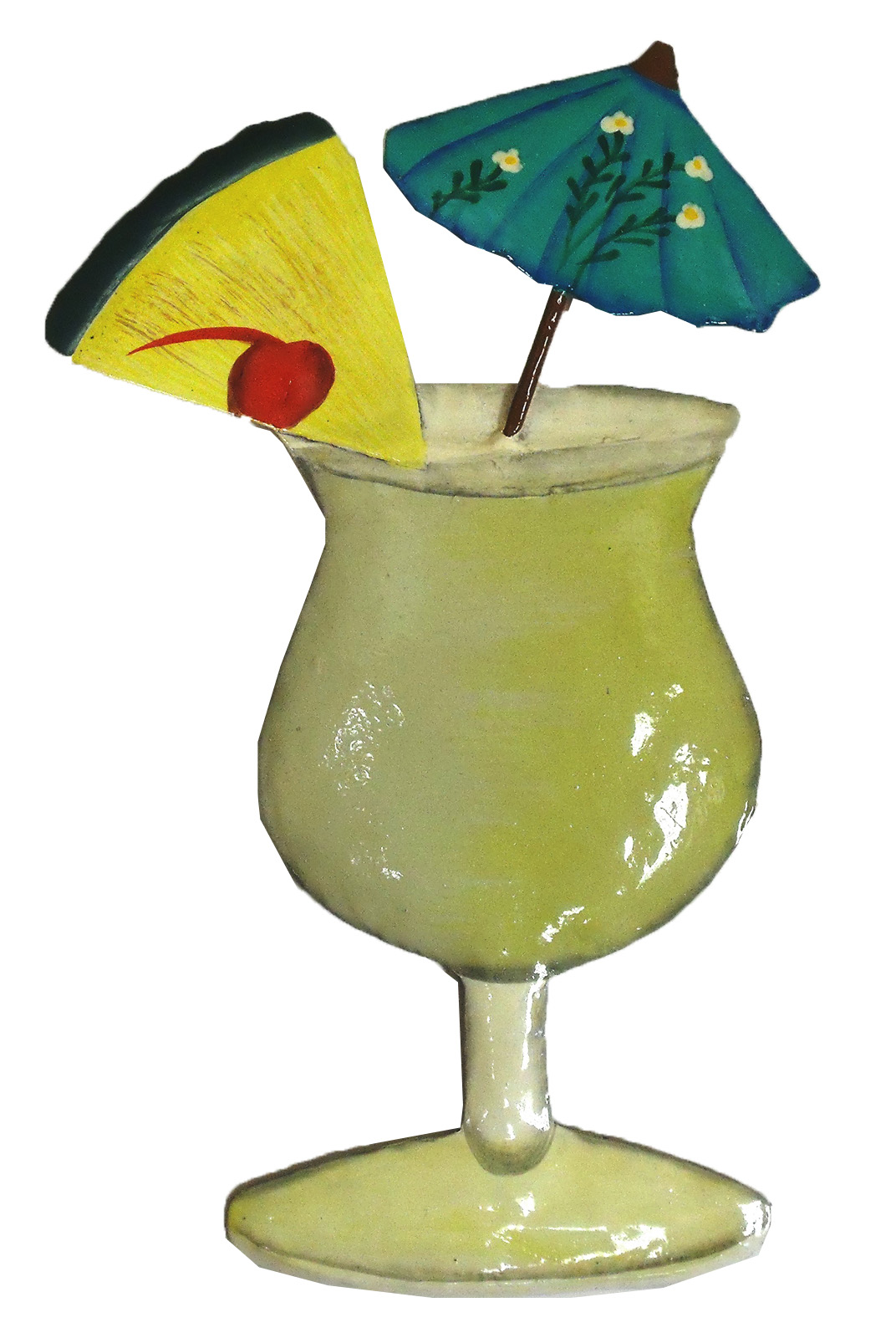 Pina Colada Tropical Drink Haitian Metal Art Wall Decor | eBay
