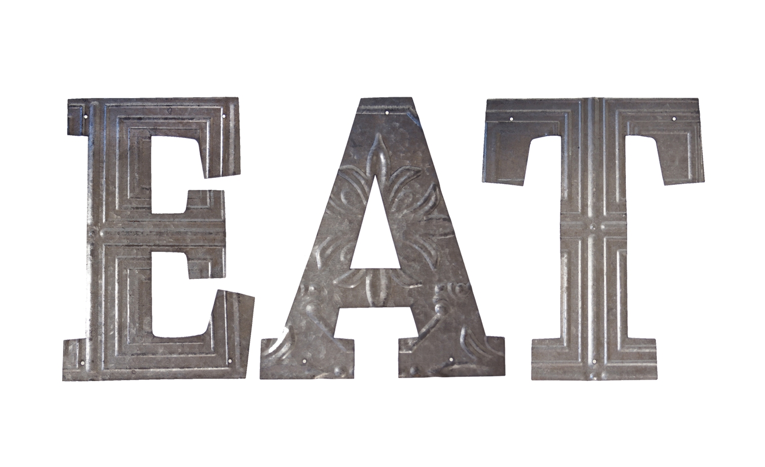 Eat Letters Kitchen Dining Bistro Wall Decor Cut Out Pressed Metal