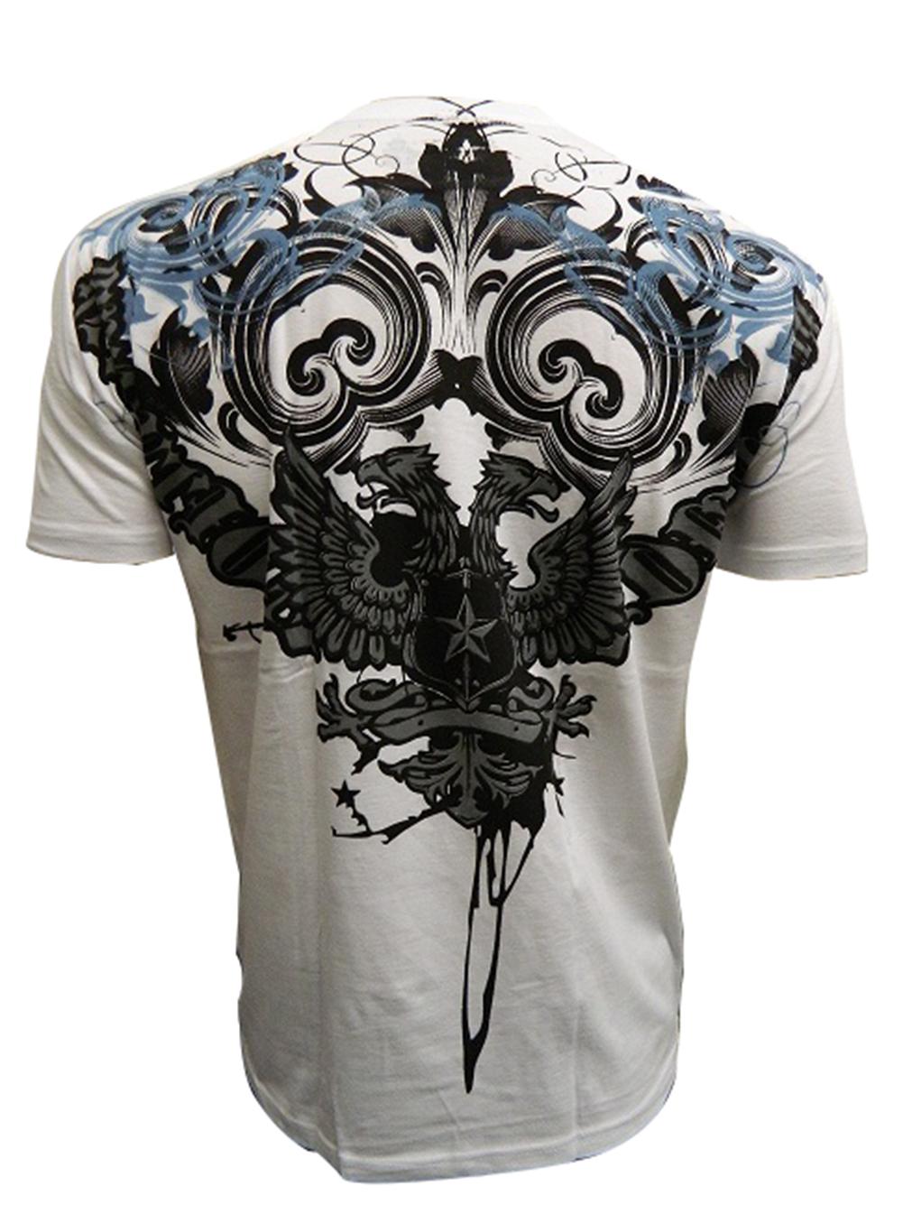 Konflic-Men-039-s-Double-Headed-Revolution-Bird-Graphic-Designer-MMA-T-Shirt thumbnail 4