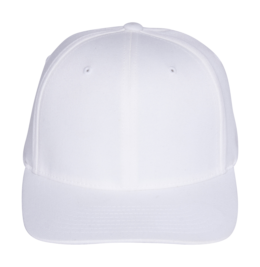 fa96c1a32 Details about Original FlexFit Flat Bill Baseball Hat Cap , S/M White