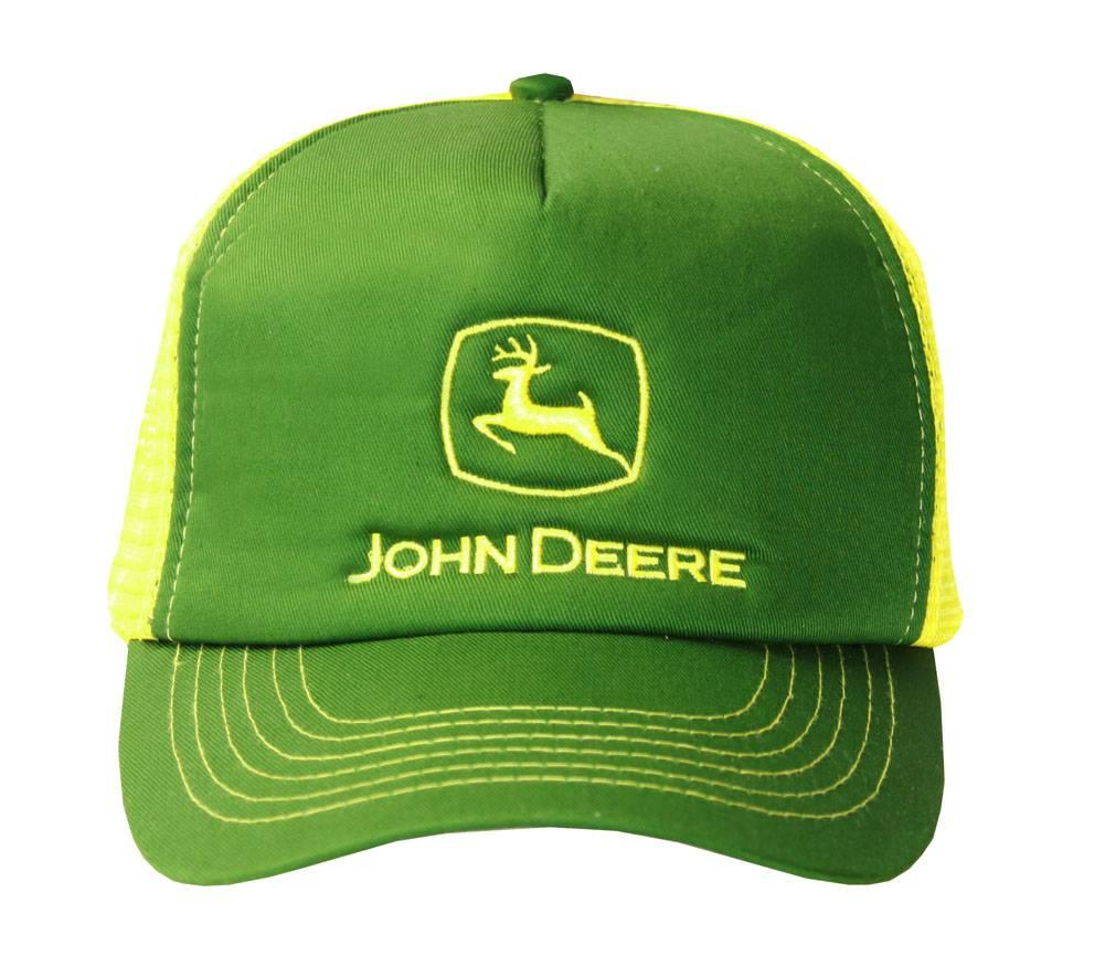 Pink John Deere Brushed Twill Value Cap
