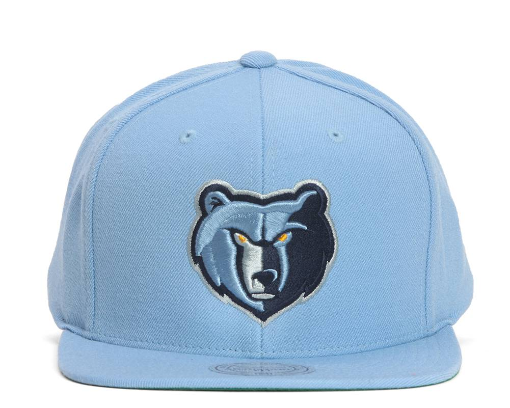on sale bce5e 4b475 Details about Mitchell   Ness Memphis Grizzlies Team Logo Snapback - Smoke  Blue