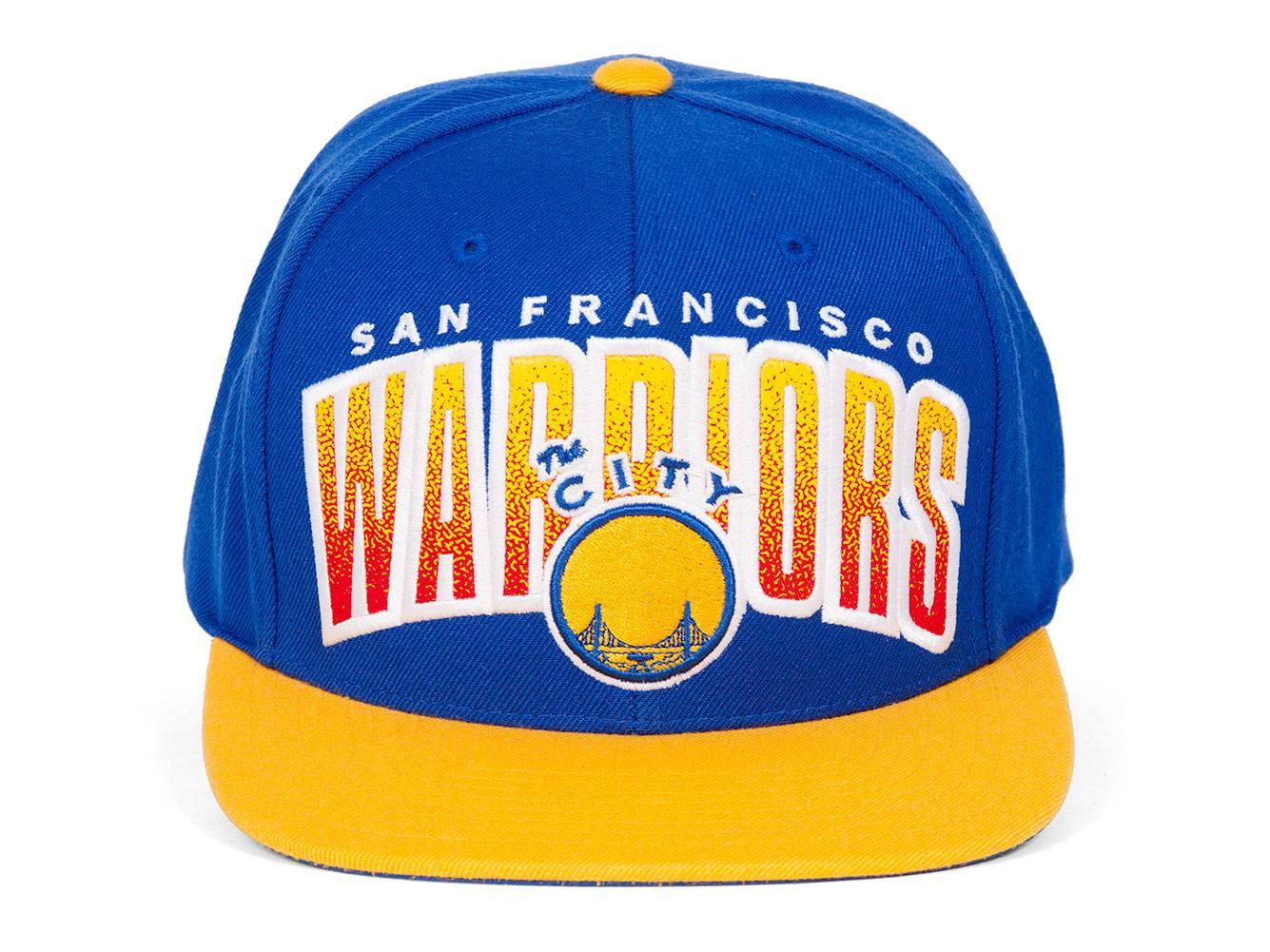 timeless design a80eb 6e885 Mitchell   Ness Golden State Warriors Double Bonus Snapback