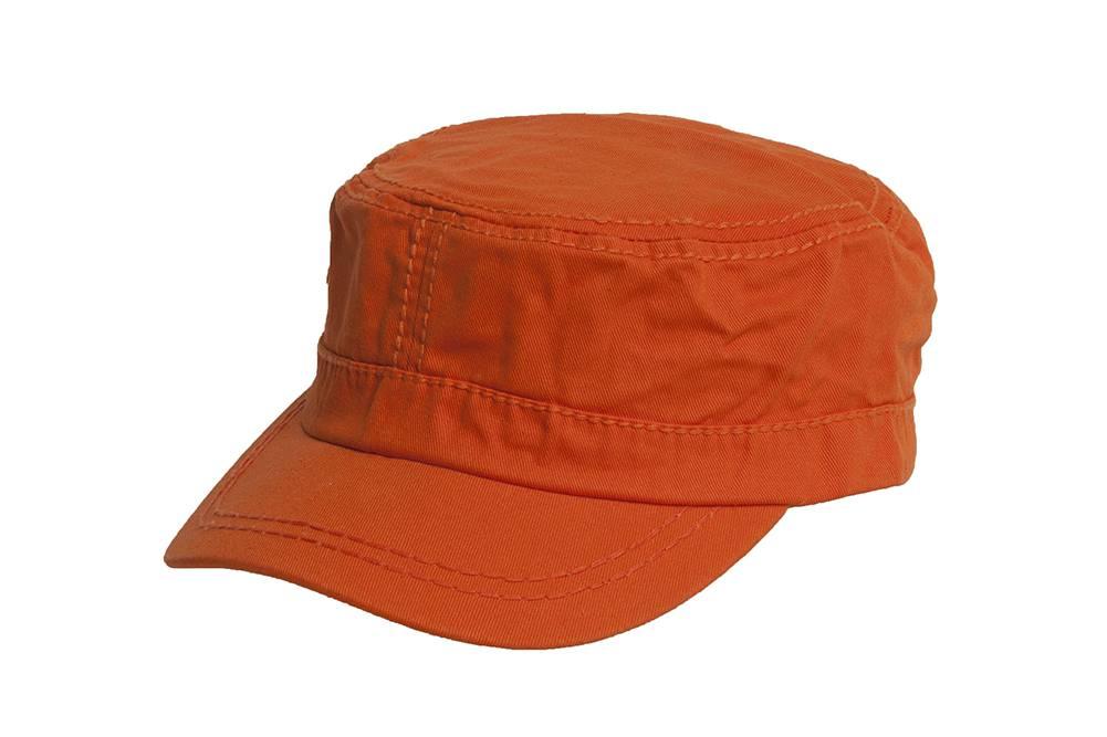 275bb932cea24 Women's Washed Military Cadet Style Cap - Orange 711237807590   eBay
