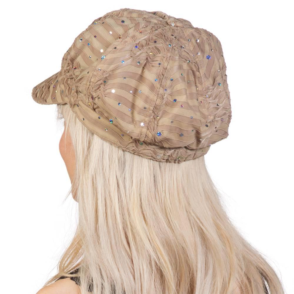 TopHeadwear-Glitter-Sequin-Trim-Newsboy-Hat thumbnail 6