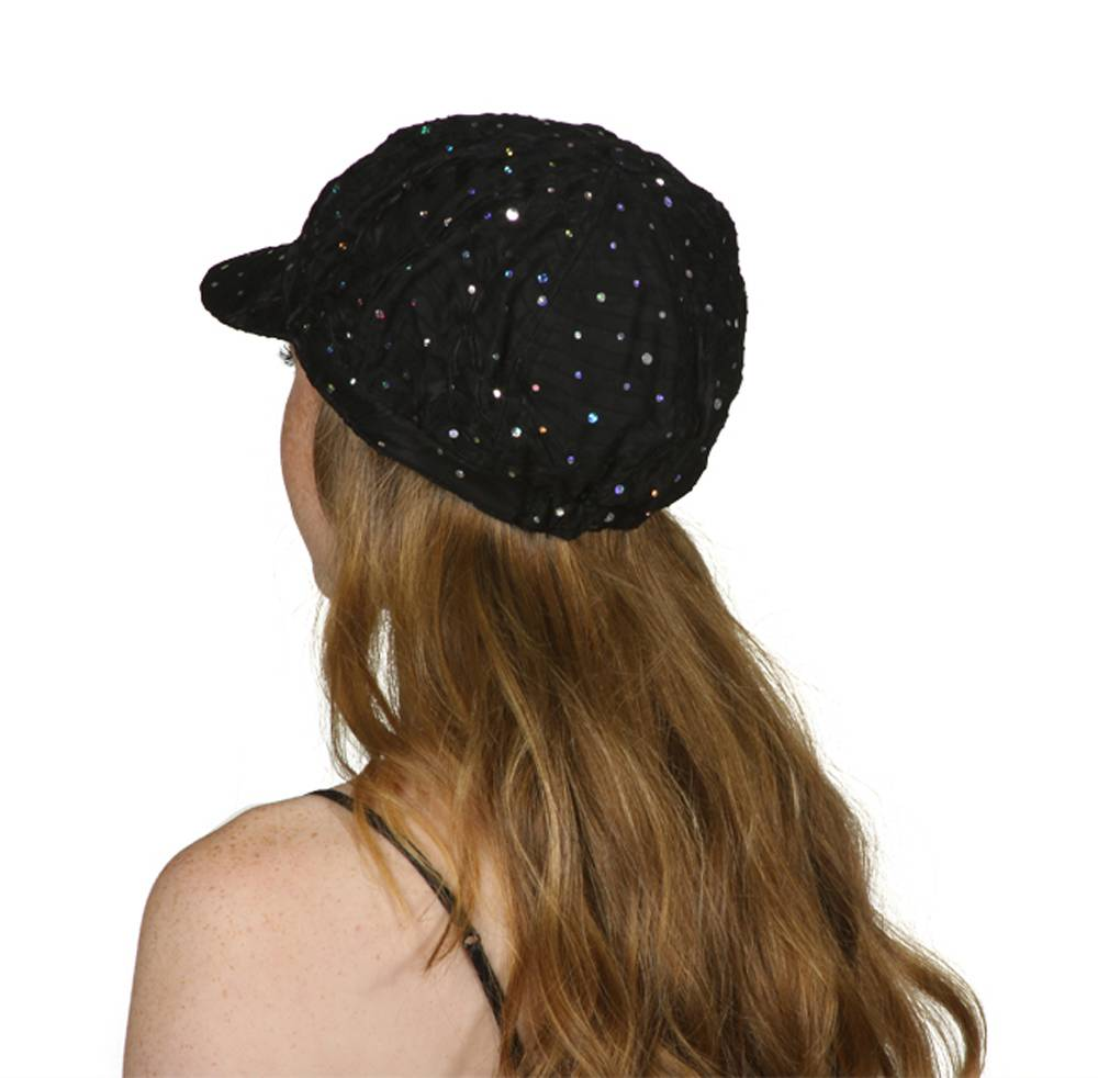 TopHeadwear-Glitter-Sequin-Trim-Newsboy-Hat thumbnail 8