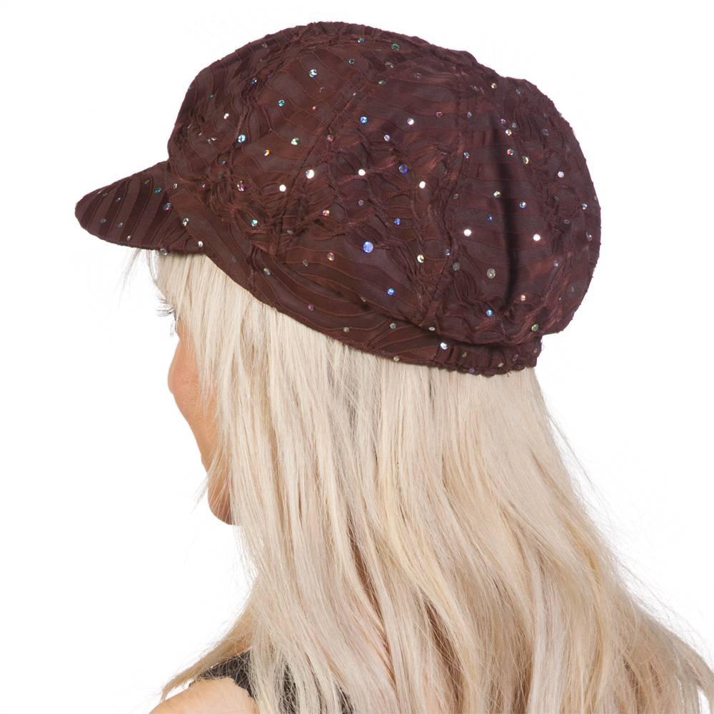 TopHeadwear-Glitter-Sequin-Trim-Newsboy-Hat thumbnail 10