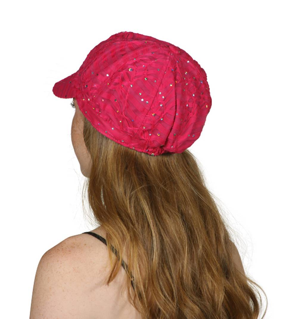 TopHeadwear-Glitter-Sequin-Trim-Newsboy-Hat thumbnail 12